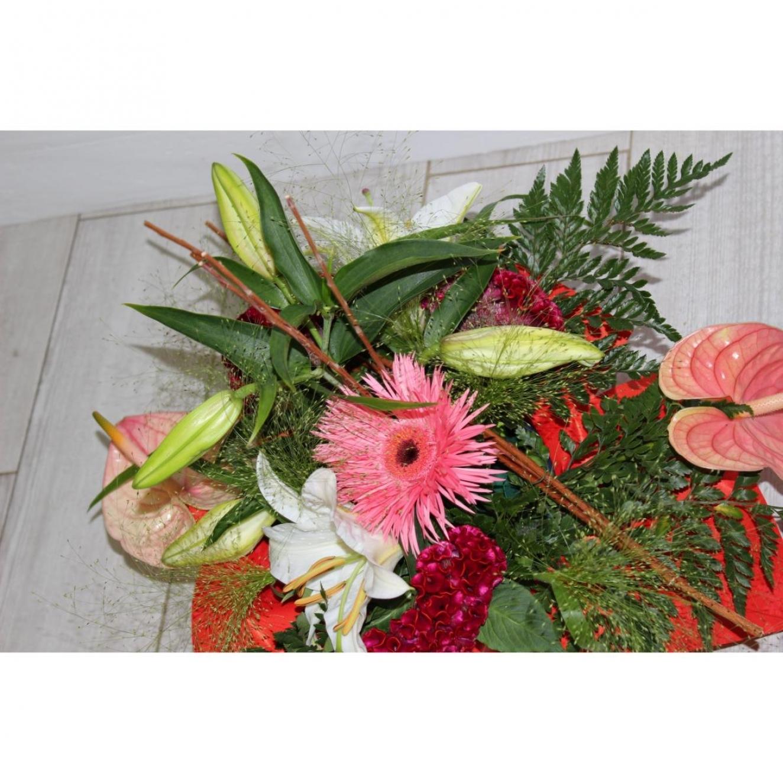 Composition florale deuil pas cher pivoine etc for Fleurs pas cher livraison