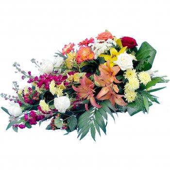 Couronne de fleurs deuil pas cher pivoine etc for Fleurs pas cher livraison