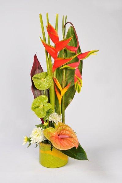 composition fleurs exotiques pivoine etc. Black Bedroom Furniture Sets. Home Design Ideas