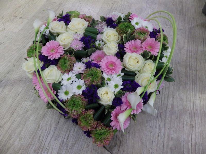 Bien-aimé Composition florale enterrement - pivoine etc BO88