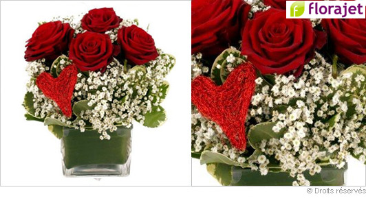 Composition florale saint valentin pivoine etc for Comcomposition florale saint valentin