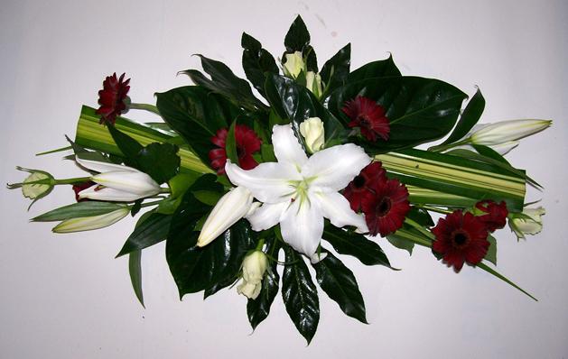 Composition de fleurs pour mariage pivoine etc - Decoration mariage fleur ...