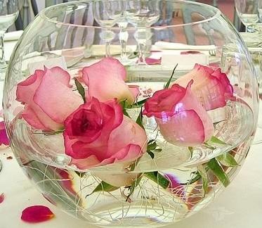 Decoration des fleurs pivoine etc - Garniture de table pour mariage ...