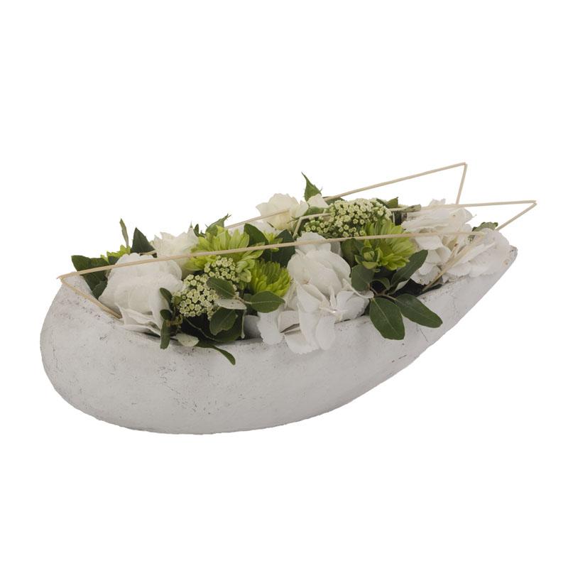 Composition florale blanche pivoine etc for Composition florale exterieur hiver