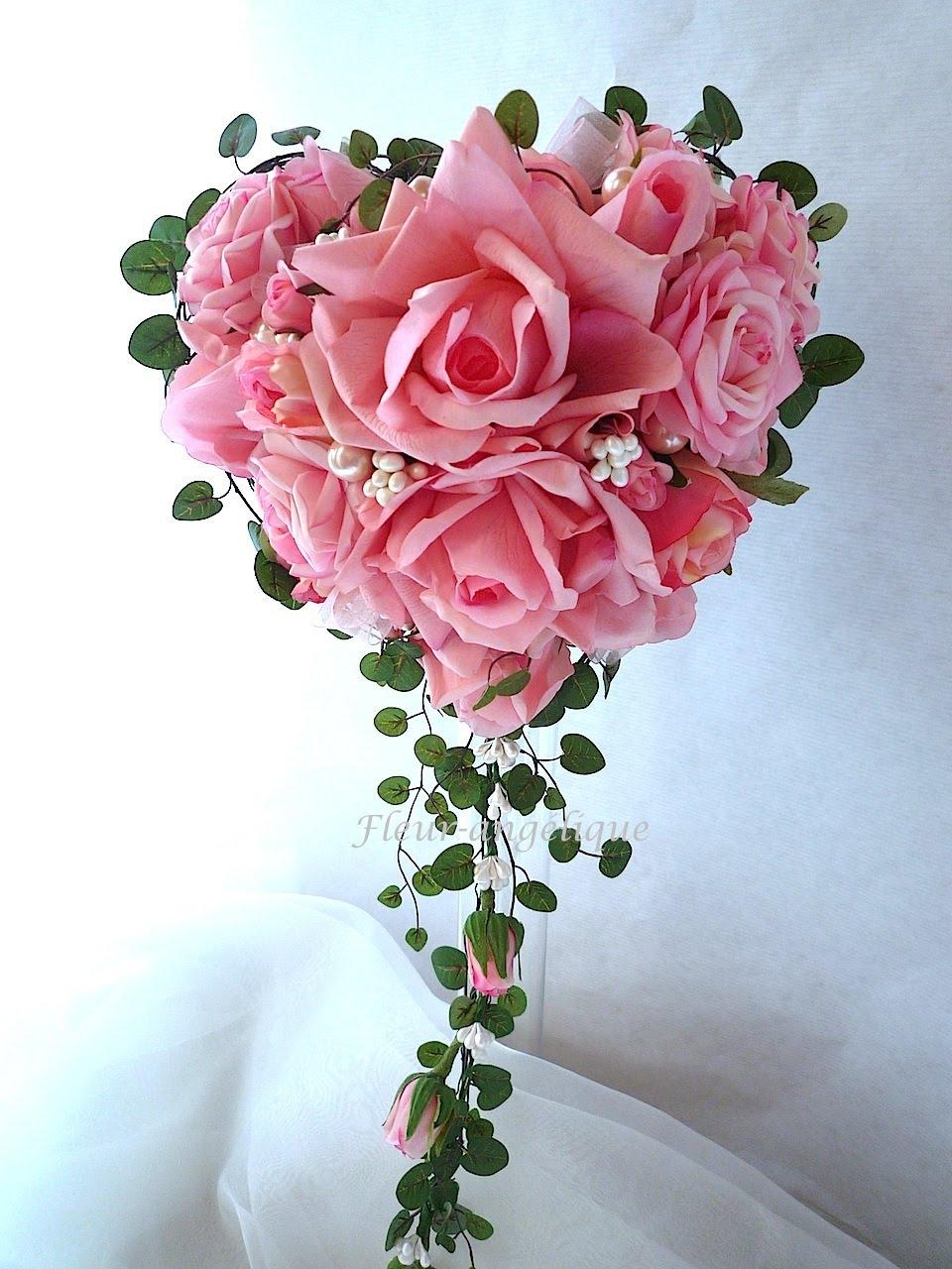 Bouquet fleur rose - pivoine etc