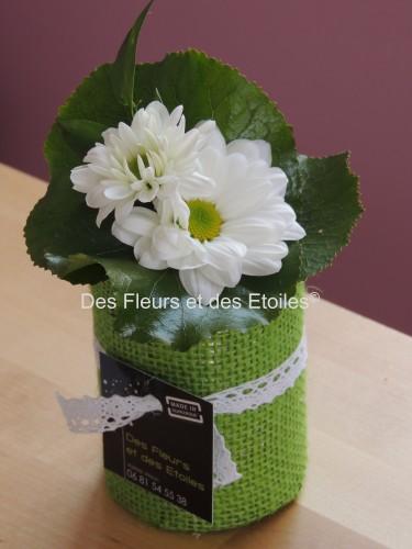 petite composition florale de table pivoine etc. Black Bedroom Furniture Sets. Home Design Ideas