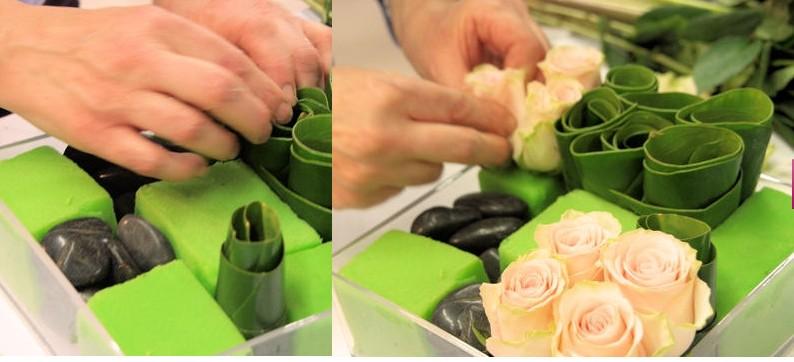 Petite composition florale pour table mariage pivoine etc - Petite composition florale pour table ...
