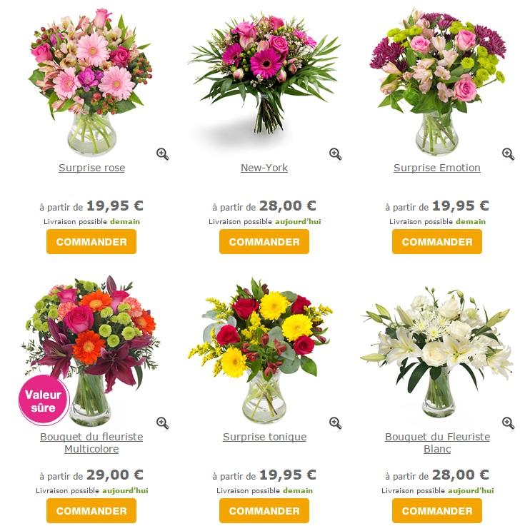 Livraison fleurs pas cher pivoine etc for Site livraison fleurs