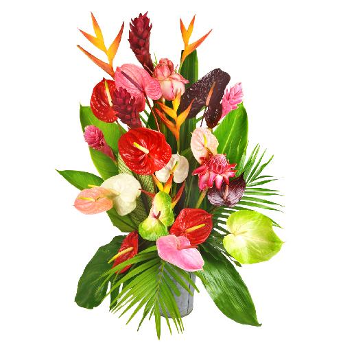 image bouquet de fleurs exotiques pivoine etc. Black Bedroom Furniture Sets. Home Design Ideas